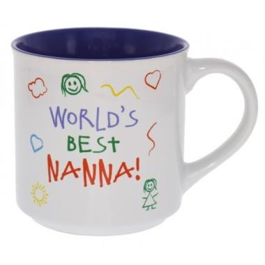 World's Best Nanna Kid Art Mug - 1