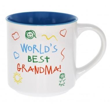 World's Best Grandma Kid Art Mug - 1