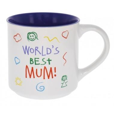 World's Best Mum Kid Art Mug - 1