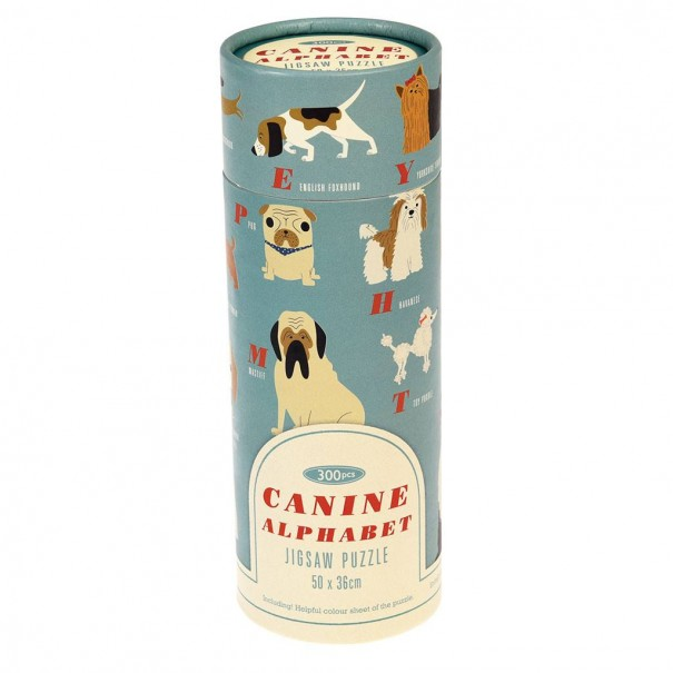 Canine Alphabet 300 Pieces Puzzle In A Tube - 1
