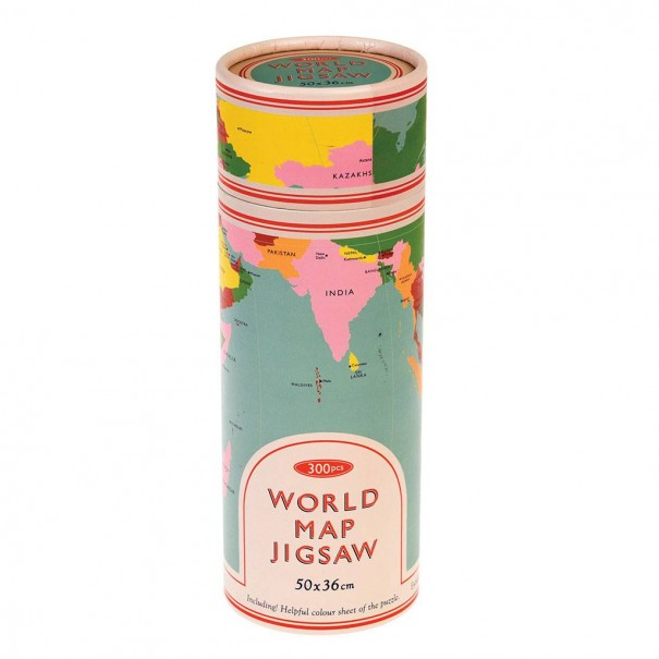 World Map 300 Pieces Puzzle In A Tube - 1