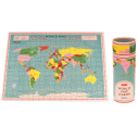 World Map 300 Pieces Puzzle In A Tube - 2